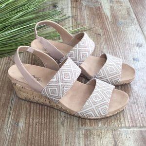 Life stride wedge sandals Sz 8.5 like new